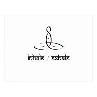 Inhale exhalan - estilo sánscrito negro tarjetas postales