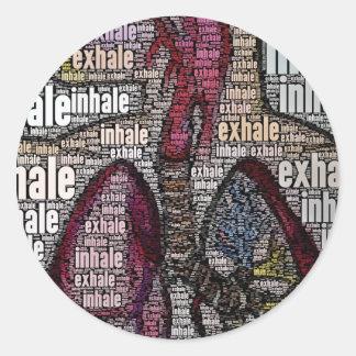 Inhale exhale classic round sticker