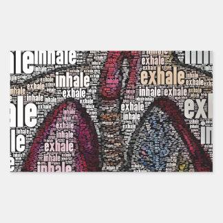 Inhale exhale rectangular sticker