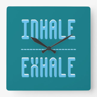 Inhale - exhale reloj cuadrado