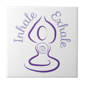 Inhale Exhale Small Square Tile