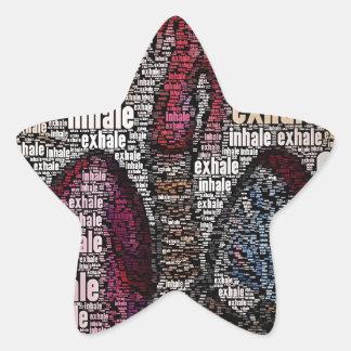 Inhale exhale star sticker