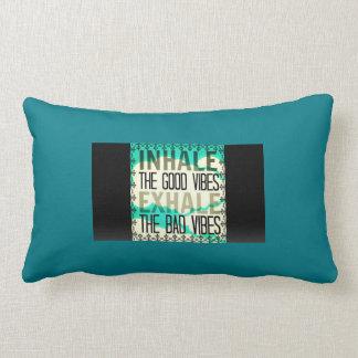 Inhale Good Vibes Throw Pillow