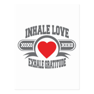 Inhale Love, Exhale Gratitude Postcard