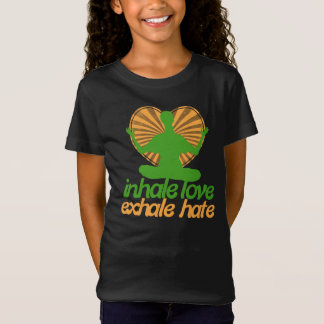 Inhale love exhale hate meditation T-Shirt