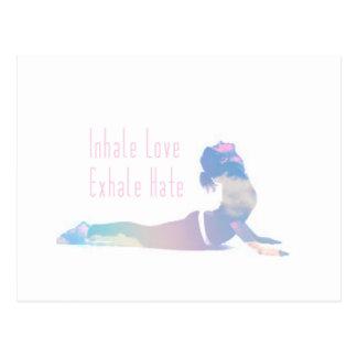 Inhale Love Yoga Series Postcard