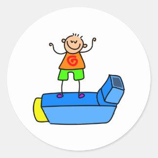 Inhaler Kid Classic Round Sticker