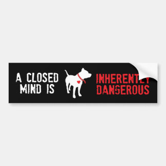 Inherently Dangerous Pit Bull Dog Bumper Sticker