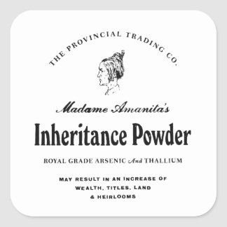 Inheritance Powder - apothecary label