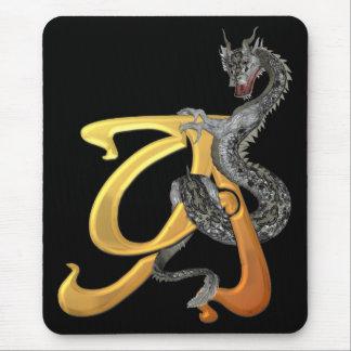 Inicial A de Dragonlore Alfombrilla De Ratón