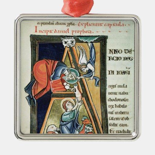 "Inicial ""A"" de Historiated que representa a Daniel Ornamento De Navidad"