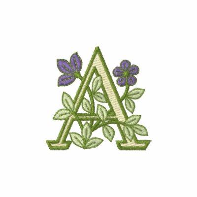 Inicial A del monograma de la flor Polo Enbordado