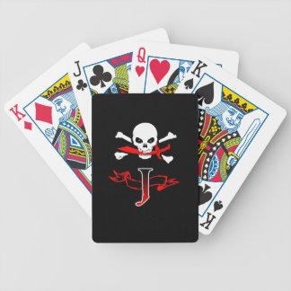 Inicial alegre del monograma de Rogelio J Baraja Cartas De Poker