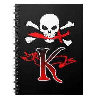 Inicial alegre del monograma de Rogelio K Cuadernos