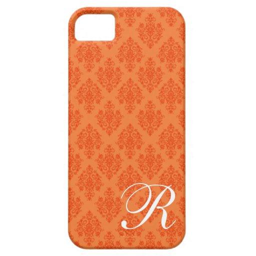 inicial anaranjada del damasco del caso del iPhone iPhone 5 Protector