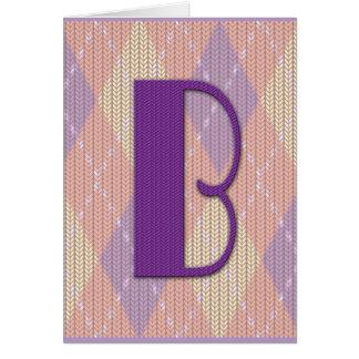Inicial B de la tarjeta de nota