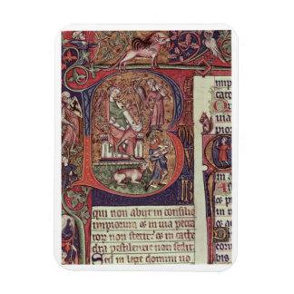 Inicial B del Mms 9961-2 Historiated del Peterb Iman Rectangular