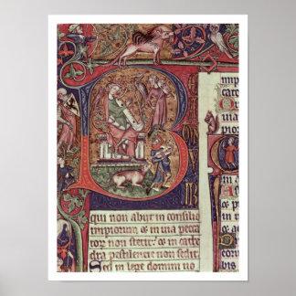 Inicial B del Mms 9961-2 Historiated del Peterb Posters