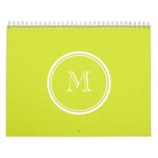 Inicial coloreada parte alta del monograma de la calendarios de pared