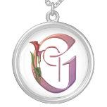 Inicial colorida G de la cala Colgantes Personalizados