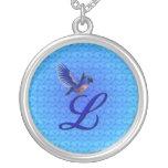 Inicial con monograma L collar del diseño del Blue