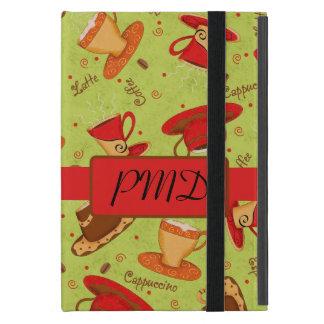 Inicial conocida roja del monograma de las tazas iPad mini carcasa