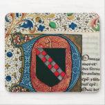 """Inicial """"D"""" de Historiated que representa el escud Alfombrilla De Ratones"""