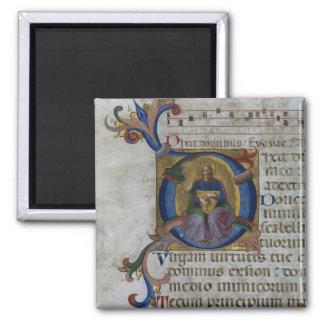 """Inicial """"D"""" del ms 531 f.169v Historiated que repr Imán Para Frigorifico"""