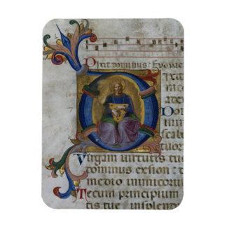 """Inicial """"D"""" del ms 531 f.169v Historiated que repr Imán De Vinilo"""