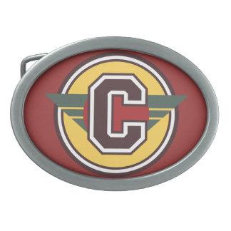 Inicial de encargo personalizada C Hebilla Cinturon Oval