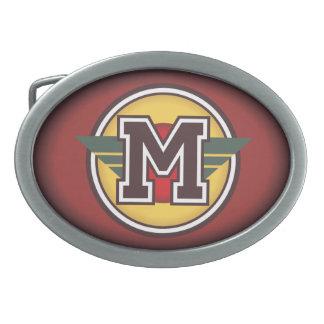 Inicial de encargo personalizada M Hebilla Cinturón Oval