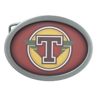 Inicial de encargo personalizada T Hebilla De Cinturon Oval