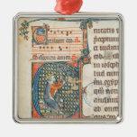 Inicial de Historiated que representa jugar de rey Ornamento Para Arbol De Navidad