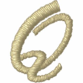 Inicial de la letra Q del monograma del bordado Chaqueta Bordada De Entrenamiento