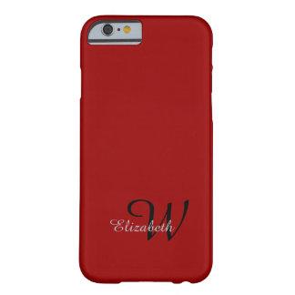 INICIAL DE LA MODA IPHONE6 CASE_GRAY NAME/GRAY EN FUNDA DE iPhone 6 BARELY THERE