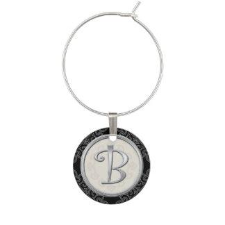 Inicial de plata elegante B del monograma Identificador De Copa