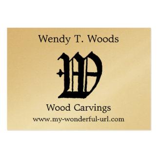 Inicial de Woodblock del grabar en madera de la le Tarjetas De Visita