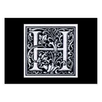 Inicial decorativa de Woodblock del grabar en made Tarjetas De Visita
