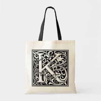 Inicial decorativa K de la letra Bolsa De Mano