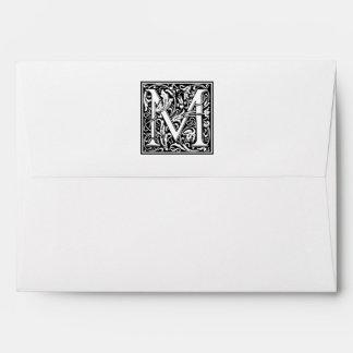 """Inicial decorativa """"M"""" de la letra Sobres"""