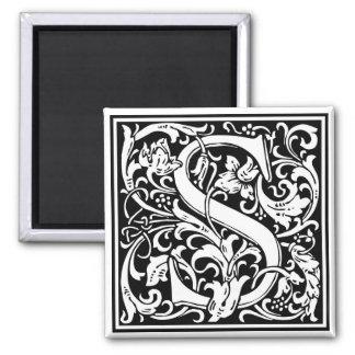 """Inicial decorativa """"S"""" de la letra Imán Cuadrado"""