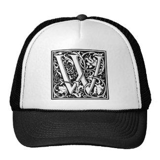 Inicial decorativa W de la letra Gorro