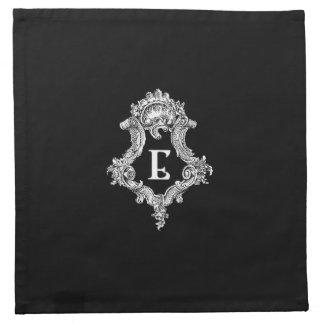 Inicial del monograma de E Servilleta Imprimida