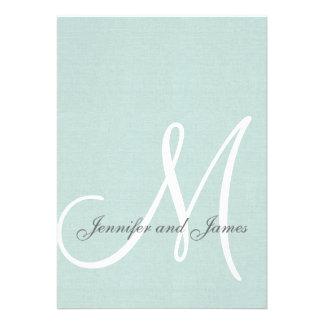 Inicial elegante de las invitaciones del boda de l comunicados personalizados