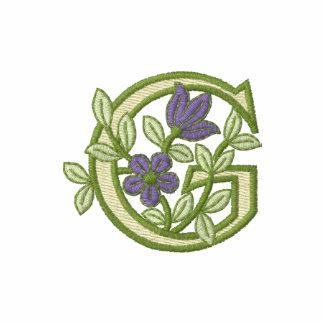 Inicial G del monograma de la flor