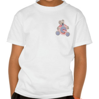Inicial G del oso de peluche Camiseta