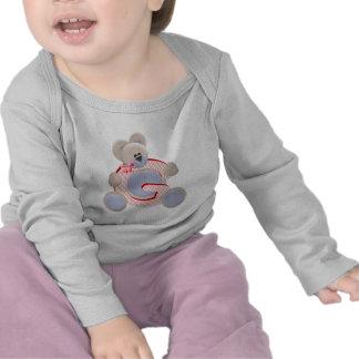 Inicial G del oso de peluche Camisetas