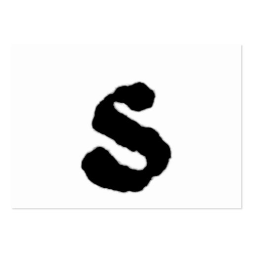 Inicial indicada con letras del estilo de la letra tarjeta personal