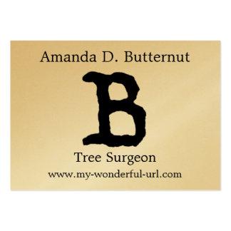 Inicial indicada con letras del estilo de la letra plantillas de tarjetas personales