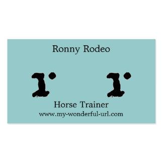 Inicial indicada con letras del estilo de la letra tarjeta de negocio